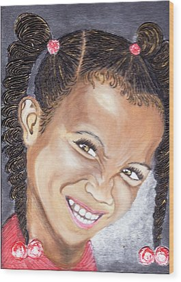 Devilish Grin  Wood Print by Keenya  Woods
