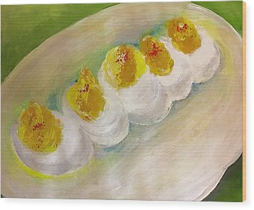 Devilled Eggs Wood Print