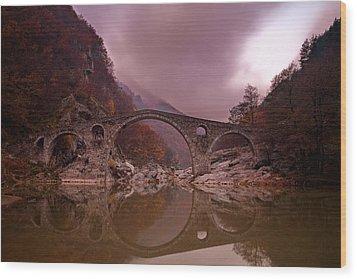 Devil's Bridge Wood Print by Evgeni Dinev