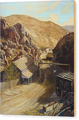 Devils Gate Nevada Wood Print by Evelyne Boynton Grierson