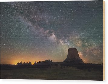 Wood Print featuring the photograph Devils Night Watch by Darren White