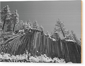 Devil's Postpile - Frozen Columns Of Lava Wood Print