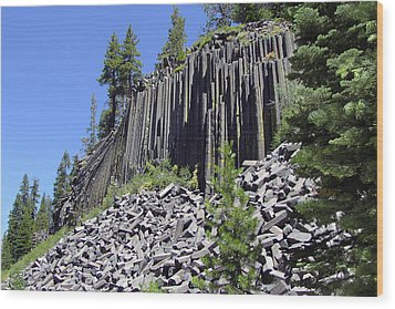 Devil's Postpile - Nature's Masterpiece Wood Print by Christine Till