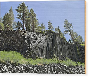 Devil's Postpile - Talk About Natural Wonders Wood Print by Christine Till