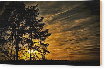 Devils Sunset Wood Print