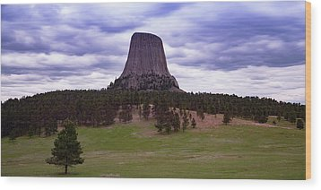 Wood Print featuring the photograph Devil's Tower 2 by Gary Lengyel