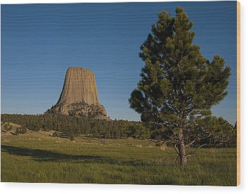 Wood Print featuring the photograph Devil's Tower by Gary Lengyel