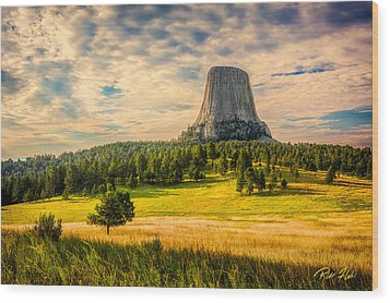 Devil's Tower - The Other Side Wood Print by Rikk Flohr