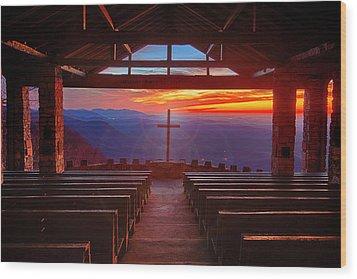 Devine Sunrise Wood Print