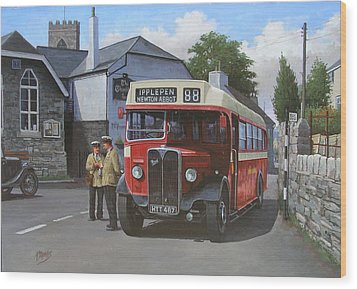 Devon General Aec Regal. Wood Print by Mike  Jeffries