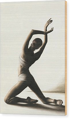 Devotion To Dance Wood Print by Richard Young
