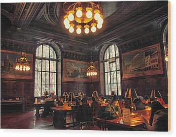 Wood Print featuring the photograph Dewitt Wallace Periodical Room by Jessica Jenney