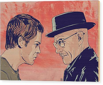 Dexter And Walter Wood Print