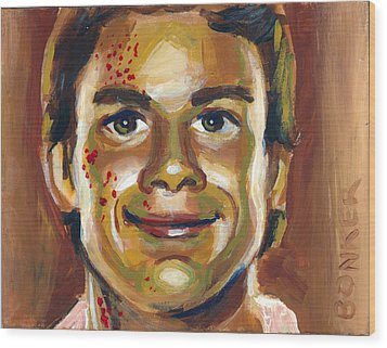 Dexter Wood Print by Buffalo Bonker