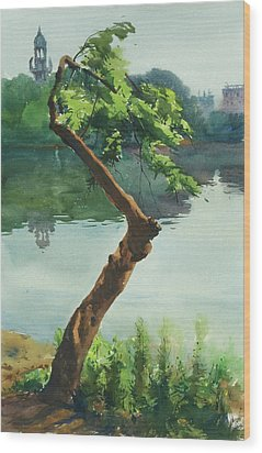 Dhanmondi Lake 03 Wood Print by Helal Uddin