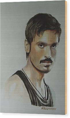 Dhanush Popular Indian Singer Wood Print