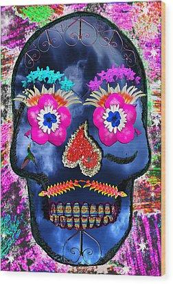 Dia De Los Muertos Wood Print by Dolly Sanchez