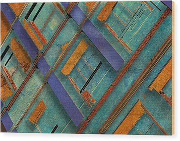 Diagonal Wood Print