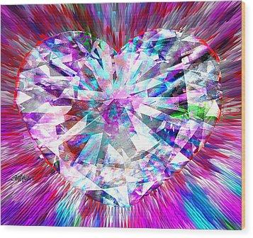 Diamond Heart Wood Print by Seth Weaver