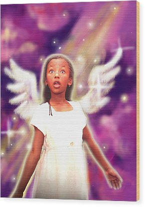Diamond.angelic 3 Wood Print