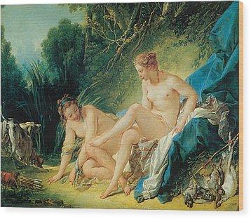Diana Bathing Wood Print by Francois Boucher