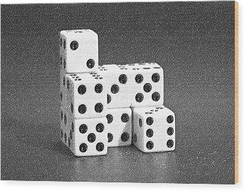 Dice Cubes I Wood Print by Tom Mc Nemar