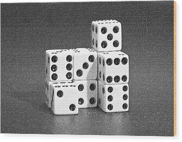 Dice Cubes IIi Wood Print by Tom Mc Nemar