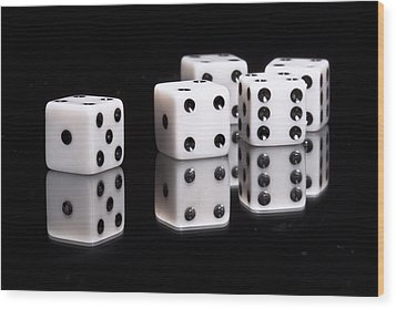 Dice II Wood Print by Tom Mc Nemar
