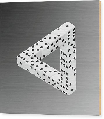 Dice Illusion Wood Print by Shane Bechler