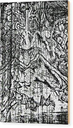 Dice Wood Print by Jera Sky