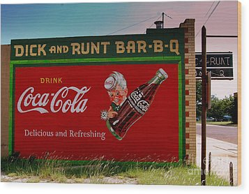 Dick And Runt Bbq Wood Print