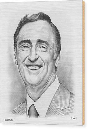 Dick Martin Wood Print by Greg Joens