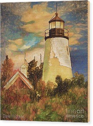 Dice Head ,castine, Maine Wood Print by Dave Higgins
