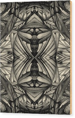 Wood Print featuring the drawing Didgitized Ballpoint 1 26 11 by Jack Dillhunt