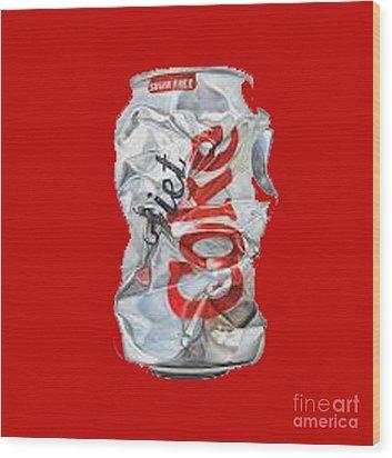 Diet Coke T-shirt Wood Print