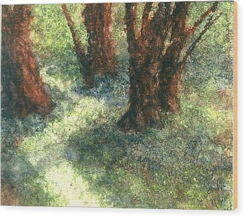 Difference Wood Print by Cynthia Ann Swan