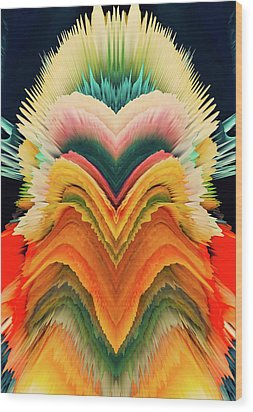 Wood Print featuring the photograph Vivid Eruption by Colleen Taylor