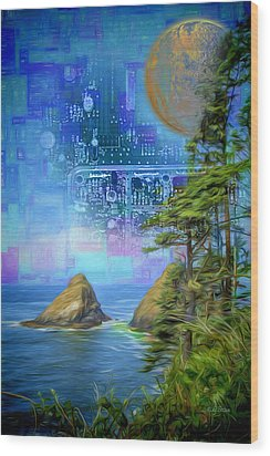 Digital Dream Wood Print
