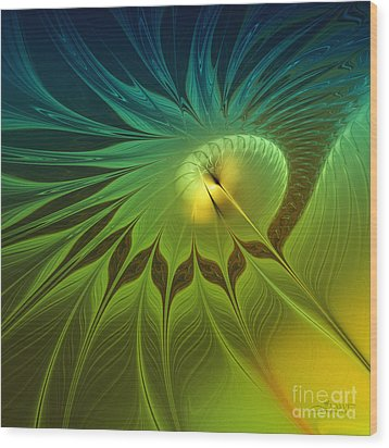 Digital Nature Wood Print by Jutta Maria Pusl