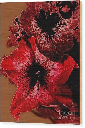 Digital Petunia Wood Print