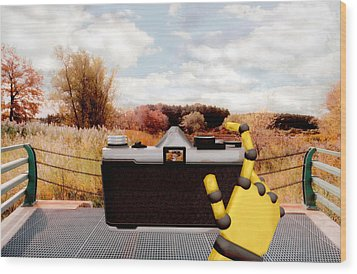 Digital Photographer Wood Print
