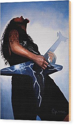 Dimebag Is Gd Electric Wood Print by Al  Molina