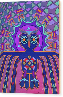 Dimensional Owl Wood Print by Ed Tajchman