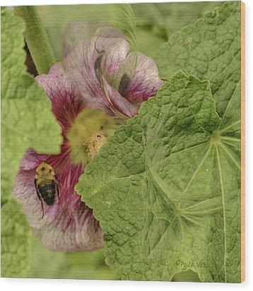 Dimensions Of Bees_flowers Wood Print