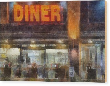 Diner Wood Print by Francesa Miller
