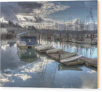 Dinghies For Rent Wood Print