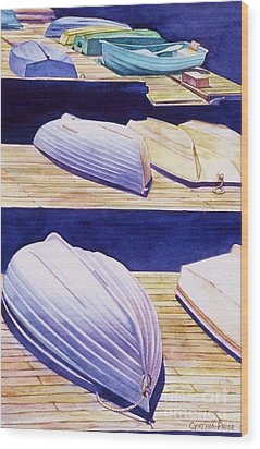 Dinghy Lines Wood Print