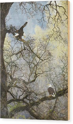 Wood Print featuring the photograph Dining In The Canopy by Angie Vogel