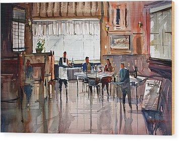 Dinner For Two Wood Print by Ryan Radke