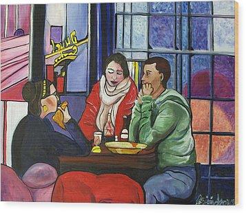 Dinner In Dam Wood Print by Patricia Arroyo